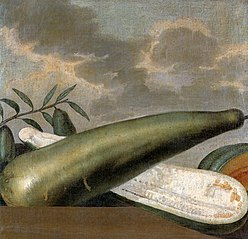 Still-life of slender gourds