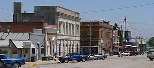 Albion, Nebraska - Downtown Albion: north side of West Church Street, looking eastward