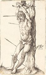 Saint Sebastian, Tied To a Tree