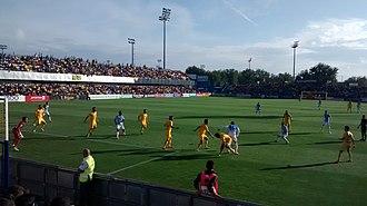 Estadio Municipal de Santo Domingo - AD Alcorcón vs CD Leganés at the stadium