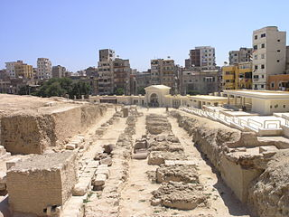 temple dedicated to the Greco-Egyptian deity Serapis