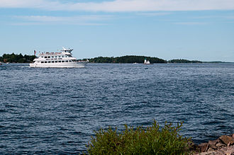 Alexandria Bay, New York - Tour boat on the Saint Lawrence River