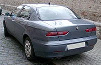 Rear end in 2002 facelift version