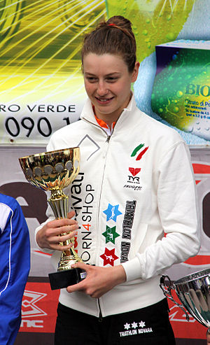 Alice Betto - Alice Betto, the winner of the Triathlon di Andora, 2010.