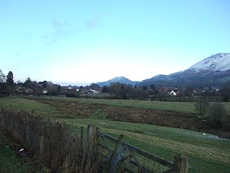 All Stretton - The village and its setting from the south