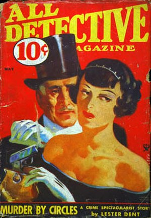 "Lester Dent - Dent's ""Murder By Circles"" was the cover story on the May 1934 issue of All Detective Magazine"