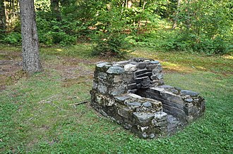 National Register of Historic Places listings in Orange County, Vermont - Image: Allis SP CCC Fireplace