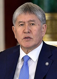 Almazbek Atambayev Kyrgyz politician