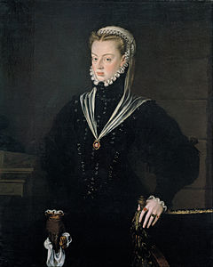 Alonso Sánchez Coello - Portrait of Juana of Austria, Princess of Portugal - Google Art Project.jpg