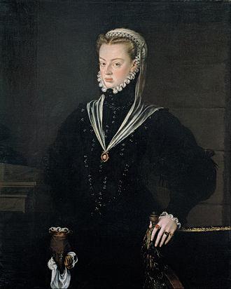 Joanna of Austria, Princess of Portugal - Portrait by Sánchez Coello