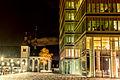 Alt St. Heribert bei Nacht daneben Lanxess Tower.jpg