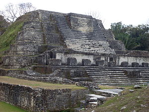 Pre-Columbian Belize - A Mayan temple at the Altun Ha site.