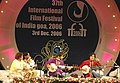 """Amaan and Ayaan Khan performing at the """"Rhythms of India"""" concert at the closing ceremony of the 37th International Film Festival of India-2006 in Panaji, Goa on December 03, 2006.jpg"""