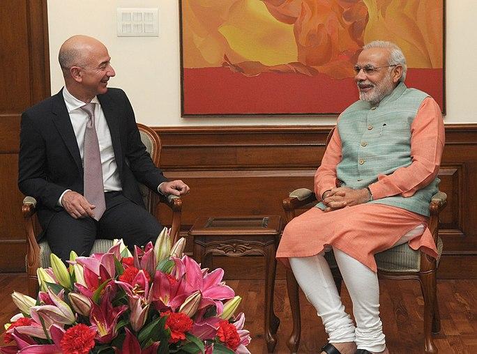 Amazon CEO calls on PM Modi