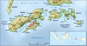 Ambon (in Westen) und die Lease-Inseln