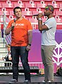 Amit Paley and Jussie Smollett at LoveLoud 2018 (44222374242).jpg