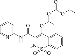 Ampiroxicam - Image: Ampiroxicam chemical structure
