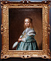 Amsterdam - Rijksmuseum 1885 - The Gallery of Honour (1st Floor) - Portrait of a girl dressed in blue 1641 by Johannes Cornelisz Verspronck.jpg