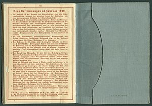 Amtsdokument Paul Fischer 1937 Leutnant Wehrpass Luftwaffe Seite 54 55 Neue Bestimmungen ab Februar 1939 Tasche D.R.G.M. 1 367 174.jpg