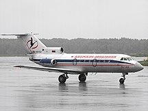 Aeroporto di Chabarovsk-Novyj-Dati tecnici-Amur Airlines Yakovlev Yak-40 Galkin
