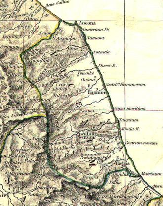 Picenum - Augustus' Regio V - Picenum, from the 1911 Atlas of William R. Shepherd.