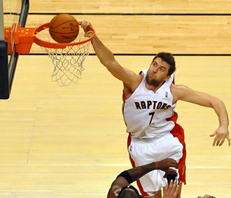 Andrea Bargnani - Bargnani going in for a dunk in a game against Miami, 20 November 2009