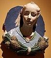 Andrea della robbia e bottega, busto di ragazza in un medaglione, 1465-70 ca. 02.JPG