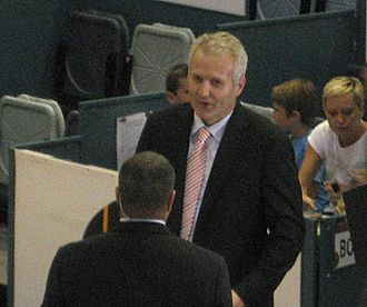 Andrew Gaze - Gaze at a Melbourne Tigers home game in 2011