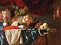 Andries Benedetti (attr) - A lobster, fruit and a vase of flowers.jpg