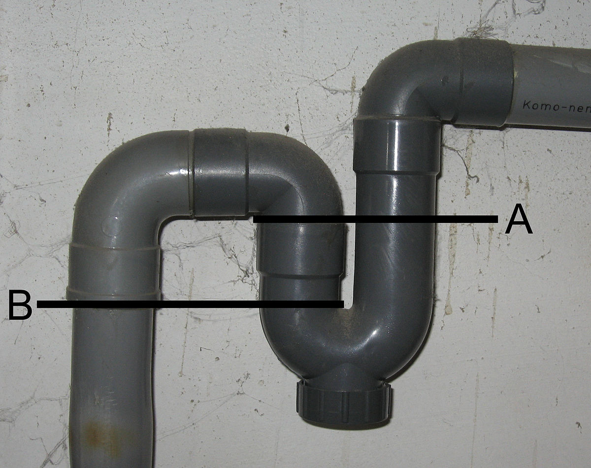 kitchen sink trap.  Trap Plumbing Wikipedia