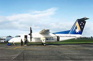 Ansett New Zealand - Ansett New Zealand DHC-8 at Hamilton, July 2000