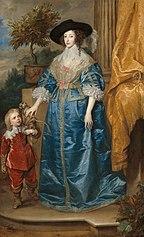 La reine Henriette Marie et son nain, Sir Jeffrey Hudson