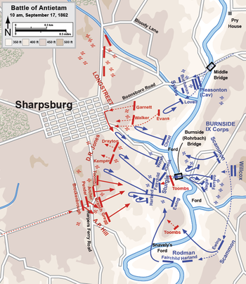 Battle Of Antietam Wikipedia - Us map civil war battles