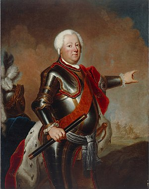 Prussian virtues - Frederick William I, King in Prussia, painting by Antoine Pesne, about 1733