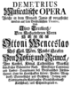 Antonio Bioni - Demetrio - german titlepage of the libretto - Wroclaw 1732.png