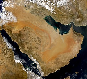 SeaWiFS collected this view of the Arabian Pen...