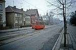 Arbeitswagen , Rostock Strassenbahn, Works Car, DDR, Jan 1990 - Flickr - sludgegulper.jpg