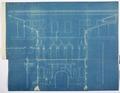 Arbetsritning, fastigheten nr 4 Hamngatan. Södra gårdsfasaden, blueprint - Hallwylska museet - 105268.tif