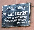 Arch Lodge Sign - geograph.org.uk - 452311.jpg