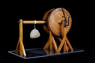 Codex Atlanticus - Image: Argano sollevatore pesi Leonardo Museo scienza e tecnologia Milano