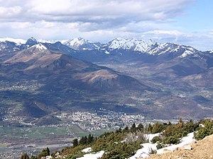 Argelès-Gazost - The view of the village from Hautacam