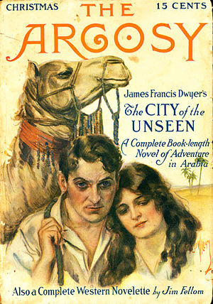 "James Francis Dwyer - Dwyer's ""The City of the Unseen"" was published in The Argosy in 1913"