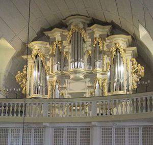 Johann Friedrich Wender - Image: Arnstadt Bachkirche Wender Orgel