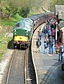 Arrival, Haworth Station (8693070817).jpg