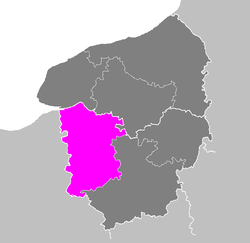 Location of Bernay in Haute-Normandie