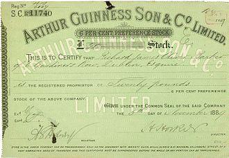 Guinness Brewery - Image: Arthur Guinness Son & Co 1889