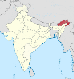 Arunachal Pradesh in India (disputed hatched).svg