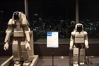 Honda P series - P3 model (left) compared to ASIMO