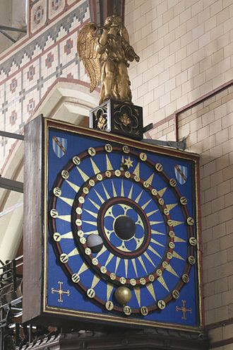 Ottery St Mary astronomical clock - Astronomical Clock in St Mary's Church, Ottery St Mary