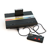 Atari 7800 with cartridge and controller.jpg